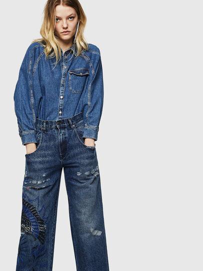 Diesel - Widee 0092Z, Blu medio - Jeans - Image 3