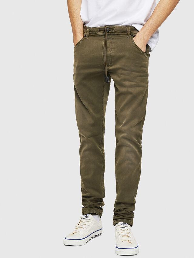 Diesel - Krooley Long JoggJeans 0670M, Verde Militare - Jeans - Image 1