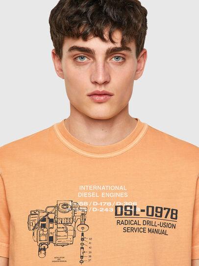 Diesel - T-DIEBIND-B1, Arancione - T-Shirts - Image 3