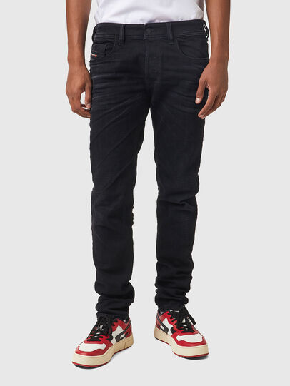 Diesel - Sleenker 09A75, Nero/Grigio scuro - Jeans - Image 1