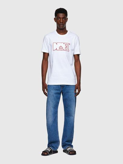Diesel - T-DIEGOS-B8, Rosso/Bianco - T-Shirts - Image 4