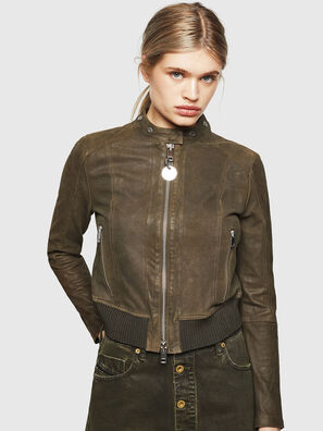 size 40 2ab81 76ab5 Giacca biker cropped in pelle scamosciata cerata