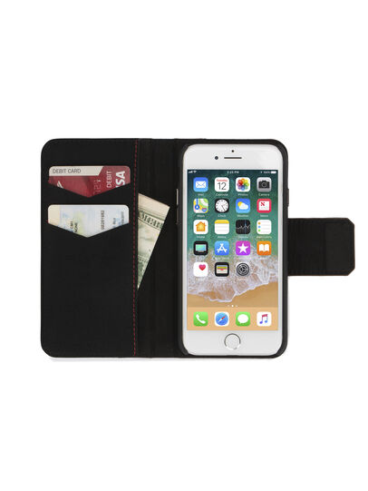 Diesel - BLACK LINED LEATHER IPHONE 8 PLUS/7 PLUS FOLIO,  - Cover a libro - Image 4