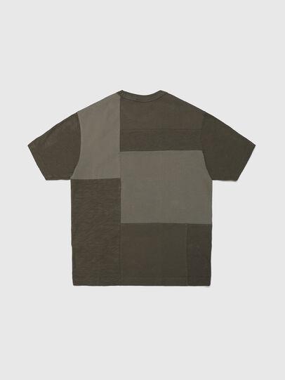 Diesel - TATCHWORK OVER, Verde Militare - T-shirts e Tops - Image 2