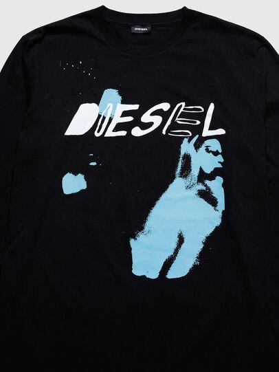 Diesel - US-T-JUST-LS, Nero - T-Shirts - Image 3
