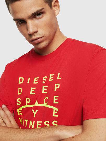 Diesel - T-JUST-J5, Rosso - T-Shirts - Image 3