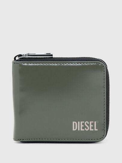 Diesel - HIRESH XS ZIPPI, Verde Militare - Portafogli Con Zip - Image 1