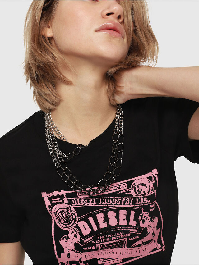 Diesel - T-SILY-C3, Nero/Rosa - T-Shirts - Image 3
