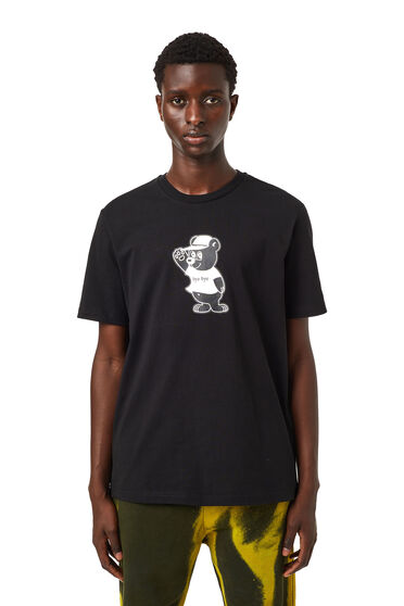 T-shirt con stampa orso