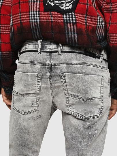 Diesel - Krooley JoggJeans 0091H, Grigio Chiaro - Jeans - Image 5