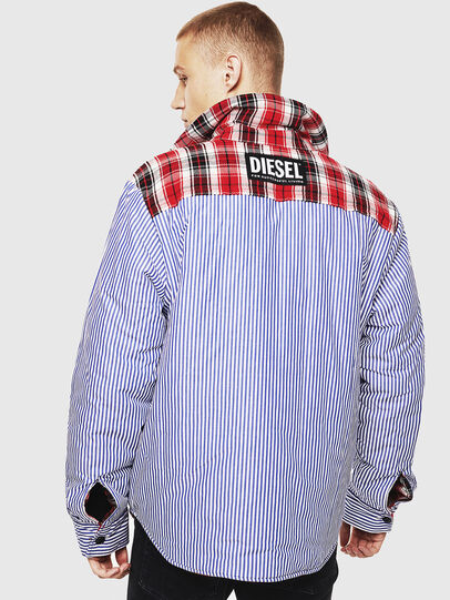 Diesel - S-JOHNS, Rosso/Nero - Camicie - Image 4