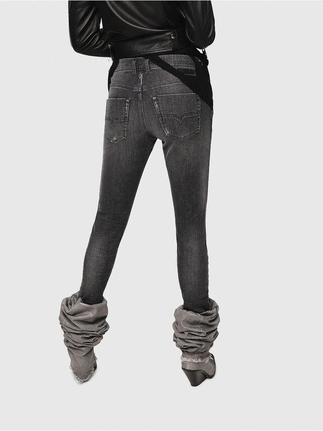 Diesel - Krailey JoggJeans 0077T, Nero/Grigio scuro - Jeans - Image 2