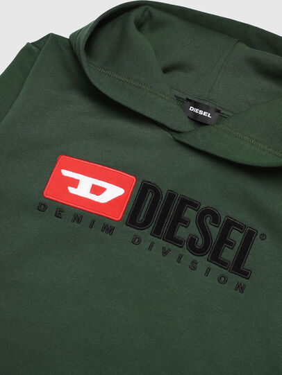 Diesel - SDIVISION OVER, Verde Scuro - Felpe - Image 3