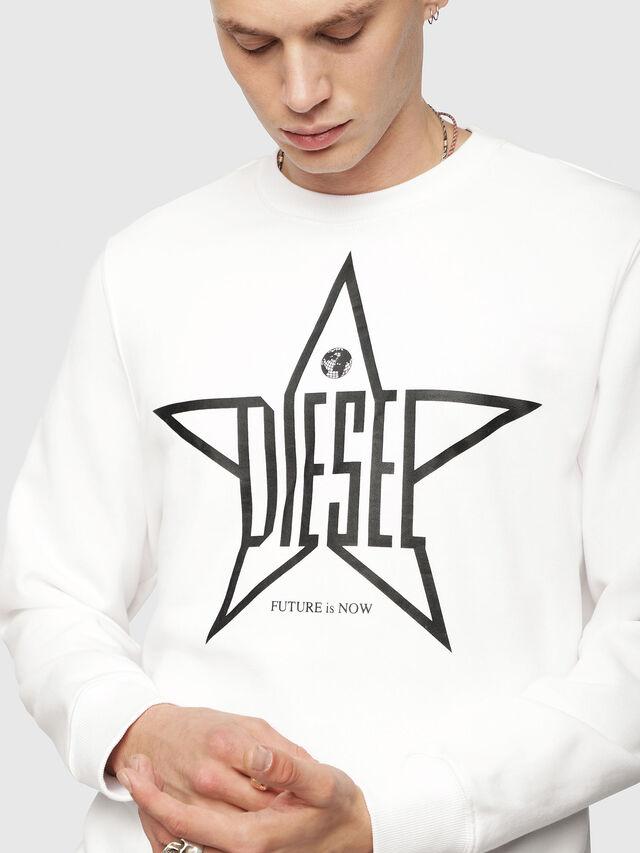 Diesel - S-GIR-YA, Bianco - Felpe - Image 3