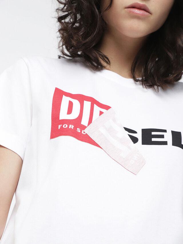 Diesel - T-DIEGO-QA-FL, Bianco - T-Shirts - Image 3