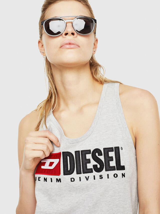 Diesel - T-SILK, Grigio Chiaro - Tops - Image 3