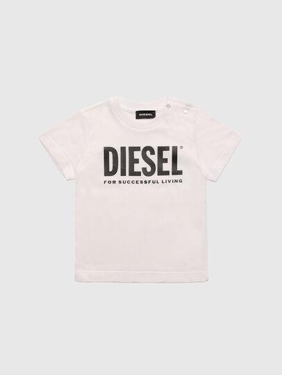 Diesel - TJUSTLOGOB, Bianco - T-shirts e Tops - Image 1