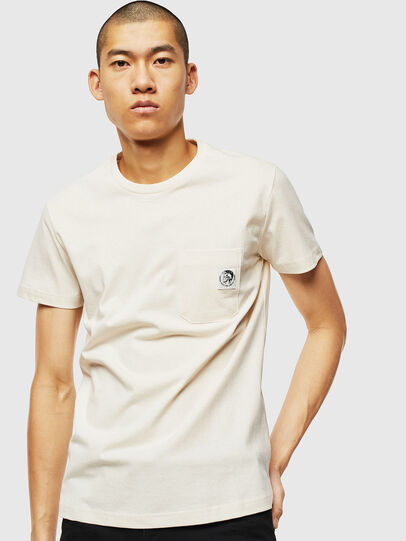 Diesel - T-WORKY-MOHI, Bianco - T-Shirts - Image 1