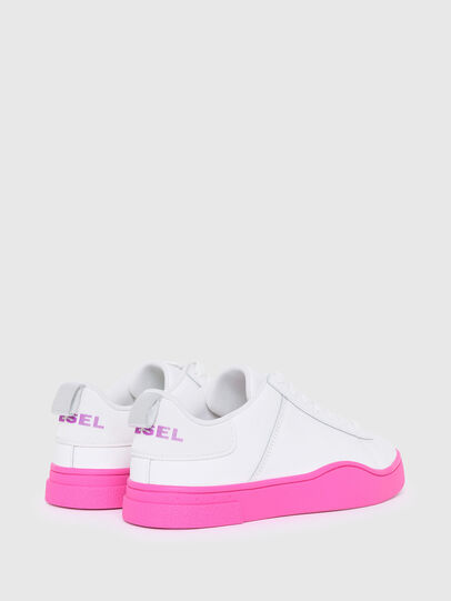 Diesel - S-CLEVER LOW LACE W, Bianco/Rosa - Sneakers - Image 3