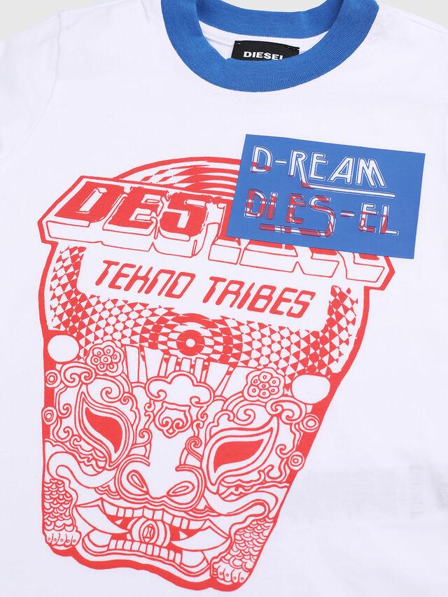 Diesel - TENNUB-R, Bianco/Rosso/Blu - T-shirts e Tops - Image 3