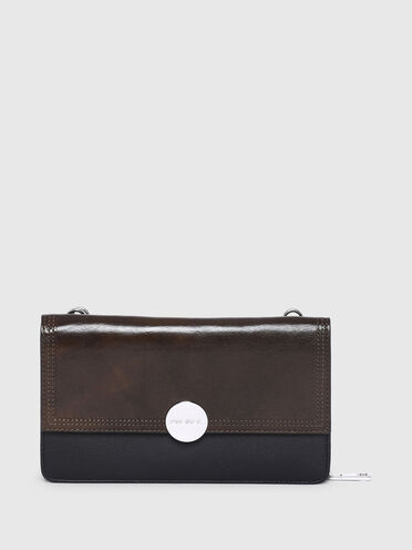 Portafoglio/borsa mini con placca con logo