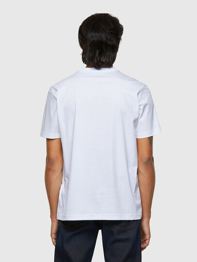 Diesel - T-JUST-B63, Bianco - T-Shirts - Image 2