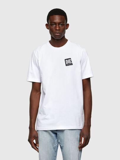 Diesel - T-JUST-LAB, Bianco - T-Shirts - Image 1