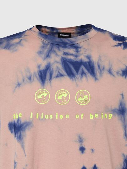 Diesel - T-JUST-SLITS-X86, Rosa/Blu - T-Shirts - Image 3