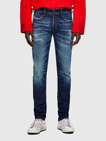 Diesel - Sleenker 09A27, Blu Scuro - Jeans - Image 1