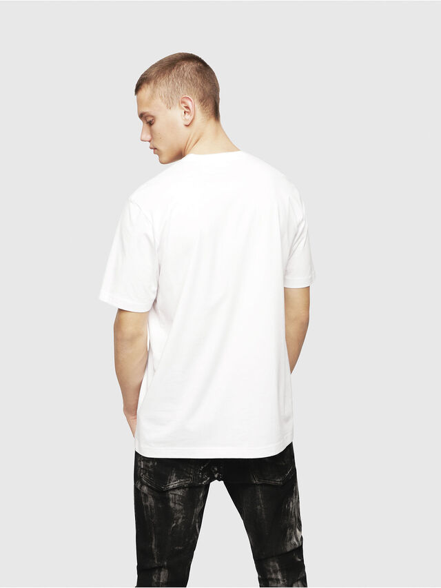Diesel - T-JUST-YL, Bianco - T-Shirts - Image 2