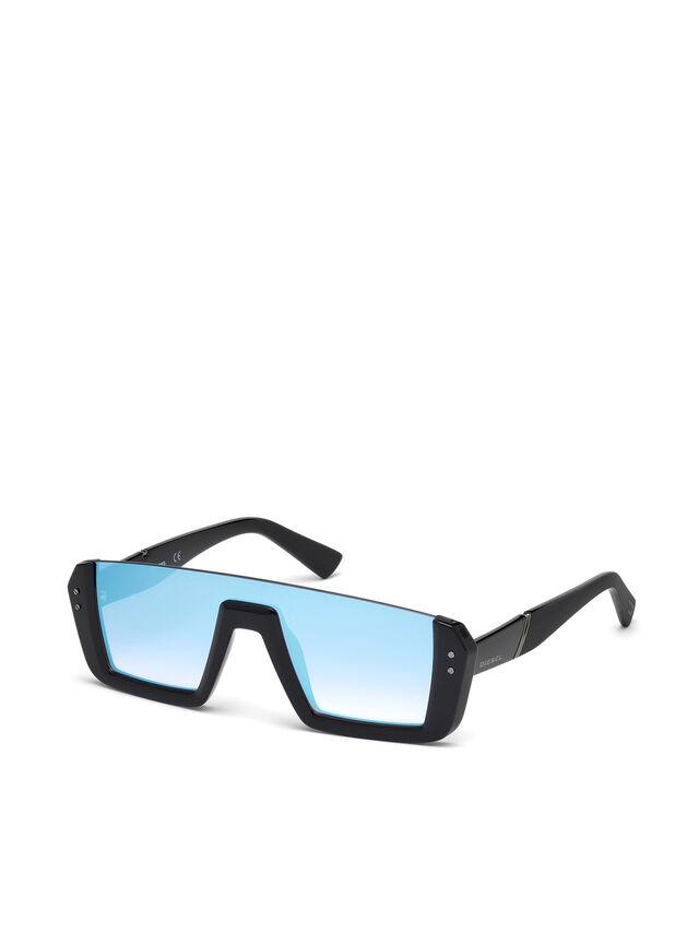 Diesel - DL0248, Nero Brillante - Occhiali da sole - Image 4