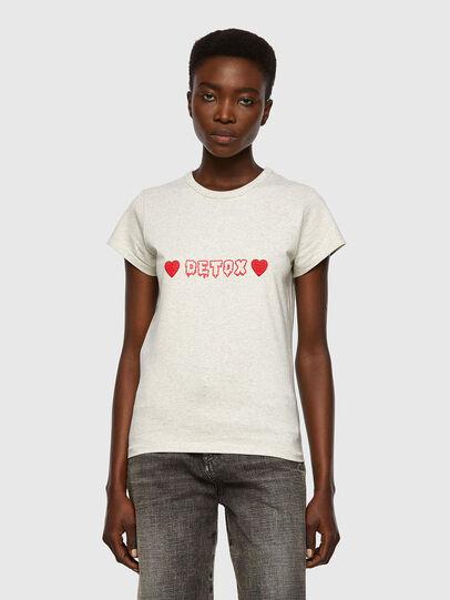 Diesel - T-SLICUP, Grigio Chiaro - T-Shirts - Image 1