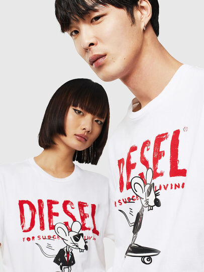 Diesel - CL-T-DIEGO-1, Bianco - T-Shirts - Image 4
