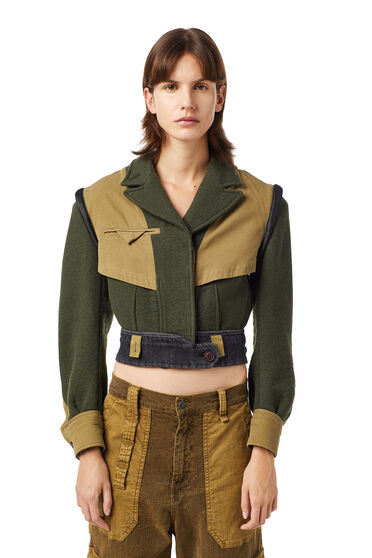 Giacca militare Green Label cropped