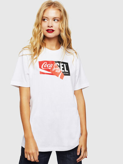 Diesel - CC-T-JUST-COLA, Bianco - T-Shirts - Image 2