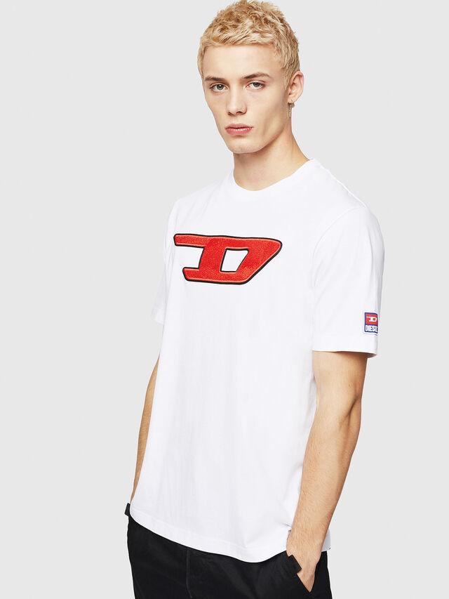 Diesel - T-JUST-DIVISION-D, Bianco - T-Shirts - Image 1