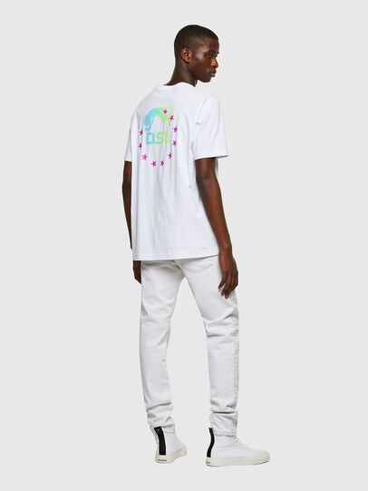 Diesel - T-JUST-E8, Bianco - T-Shirts - Image 4