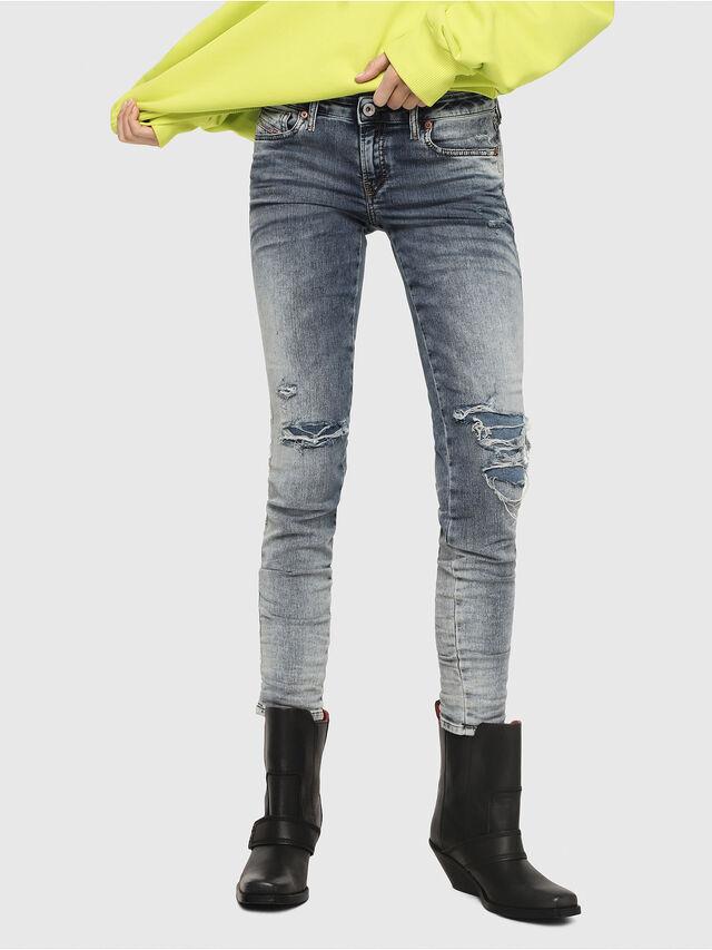 Diesel - Gracey JoggJeans 069FC, Blu medio - Jeans - Image 1