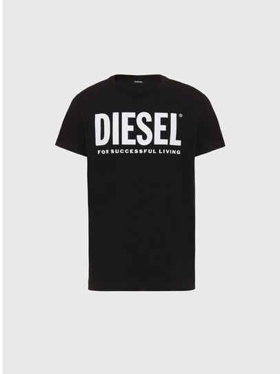 Diesel - T-DIEGO-LOGO, Nero - T-Shirts - Image 1