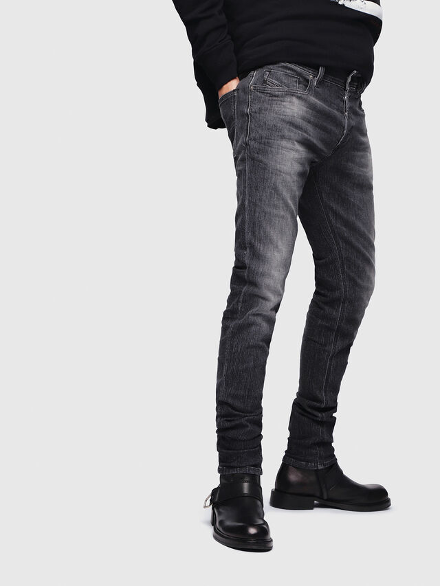 Diesel - Sleenker 089AA, Nero/Grigio scuro - Jeans - Image 3