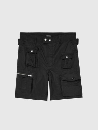 Shorts cargo in mix material