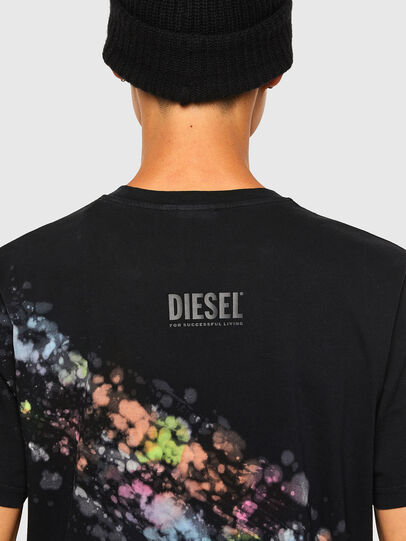 Diesel - T-JUST-A40, Nero - T-Shirts - Image 4