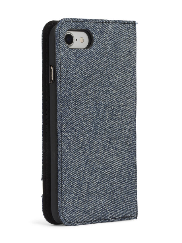 Diesel - DENIM IPHONE 8/7 FOLIO, Blu Jeans - Cover a libro - Image 6