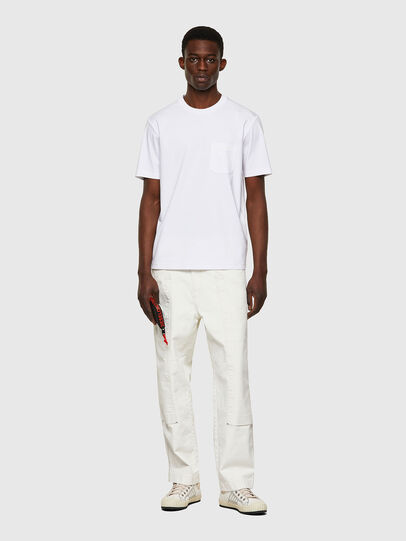 Diesel - T-JUST-WORKY, Bianco - T-Shirts - Image 4