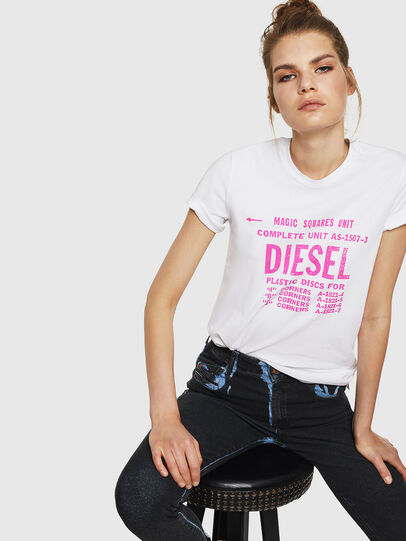 Diesel - T-SILY-ZF, Bianco - T-Shirts - Image 4