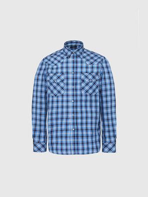 S-EAST-LONG-O, Blu/Bianco - Camicie