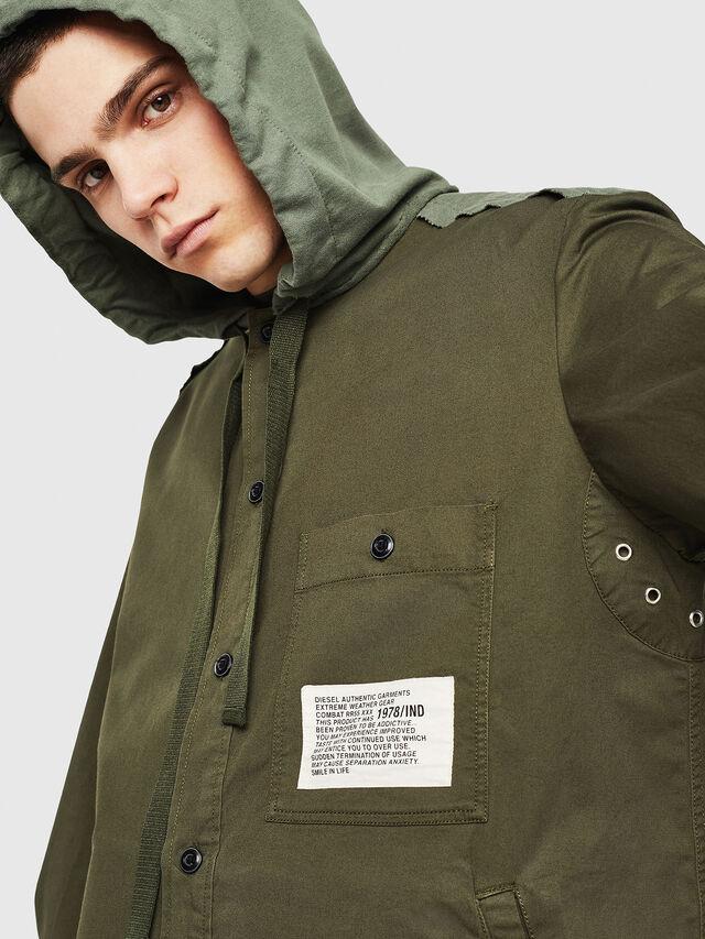 Diesel - S-EIKU, Verde Militare - Camicie - Image 3
