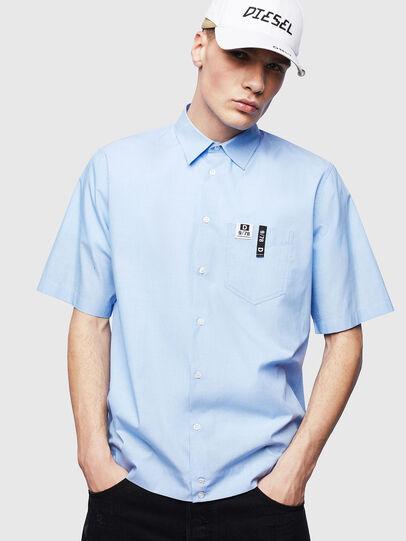 Diesel - S-FRY-FLUO, Blu Chiaro - Camicie - Image 1