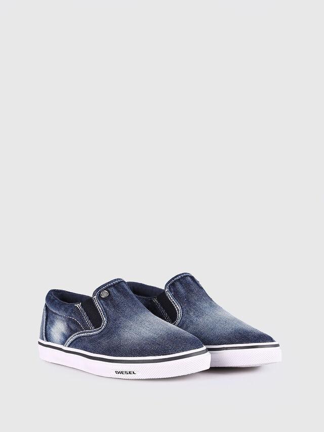 KIDS SLIP ON 21 DENIM YO, Blu Jeans - Scarpe - Image 2