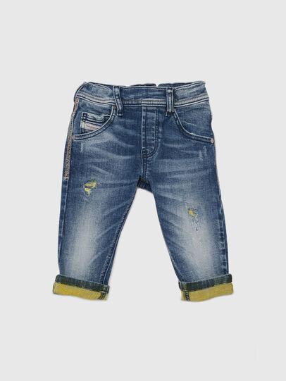 Diesel - KROOLEY JOGGJEANS-B-N, Blu/Giallo - Jeans - Image 1